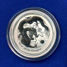 2012 Australia Year of the Dragon - Lunar Series .999 Silver Proof $0.50 Dollar
