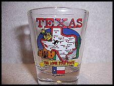 Shot Glass Texas Lone Star State Map Flag New Dallas Houston San Antonio TX  109