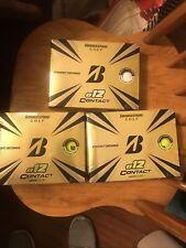 bridgestone e12 contact golf balls green  And White 3 Dozen