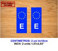 MATRICULA ESPAÑA UE UNION EUROPEA VINILO PEGATINA VINYL STICKER DECAL AUFKLEBER