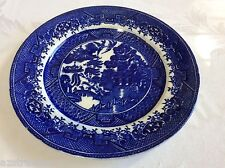 "VTG Willow made in Gr. Britain Pottery Blue willow salad plate 9"" Transferware"