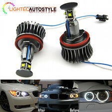 Bmw H8 Hb3 40w Cree Led Angel Eye Halo Ring Xenon Luz Blanca Bombilla libre de errores