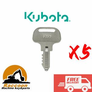 5pcs Ignition Keys 55364-41180 For Kubota F Series mower 373 F2000 2100 2100E