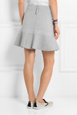 J Crew Gray Xs Fluted Skirt Casual Career stretch exposed zipper
