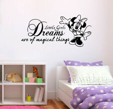 Disney Quote Girls Kids Childrens Room Minnie Vinyl Wall Art Decal