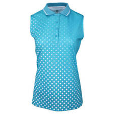 Island Green Womens IGLTS1958 Sleeveless Sublimated Polo Shirt 34% OFF RRP