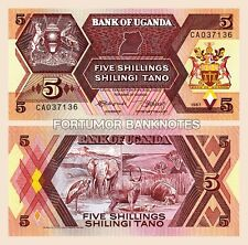 UGANDA 5 SHILLINGS 1987 , UNC , P-27