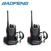 2x Baofeng BF-888S Two Way Radio Walkie Talkie UHF 400-470MHz Handheld + Earbuds