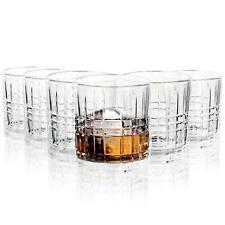 More details for vinsani 6 regal whisky classic cut transparent whiskey glasses