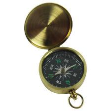 Brass Travel Pocket Navigation Compass Navigational Camping/Hiking/Survival Gear
