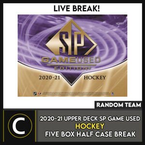 2020-21 UPPER DECK SP GAME USED HOCKEY 5 BOX BREAK #H1176 - RANDOM TEAMS