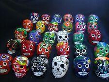 Lot of 30 day of dead Sugar Skulls, Mexican pottery, Talavera, catrina, muertos,