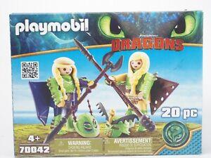 Playmobil Film Dragons 70042 Raffnuss und Taffnuss mit Fluganzug - neuwertig OVP