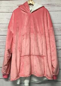 Sherpa Type Comfy Hoodie Sweatshirt Wearable Blanket Hooded Snuggie w/Pockets