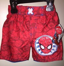 SPIDERMAN Boys' Swim Trunks RED MULTI 18-24 Months NEW Tags Beach Pool Summer