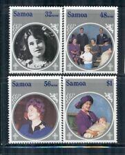 SAMOA Sc649-52 MNH 1985 85th Birthday Queen Mother set of 4 SCV$4