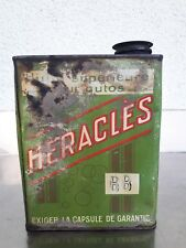 BIDON D'HUILE ANCIEN HERACLES BB AUTOMOBILIA 1920 GARAGE DECO MECANIQUE LOFT