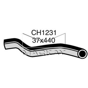 Mackay   Top Radiator Hose    CH1231  suits FORD Cortina TC TD 3.3 & 4.1 litre (