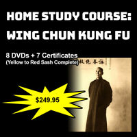 Home Study Course: Wing Chun Kung Fu (Yellow to Red Sash Complete)