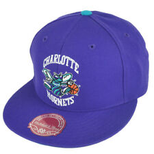 6233ad50cef NBA Mitchell Ness TK07 Charlotte Hornets Purple Second Fitted Hat Cap