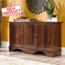 Storage Cabinet Cupboard Credenza Wood Sideboard Indoor Buffet Organizer Brown
