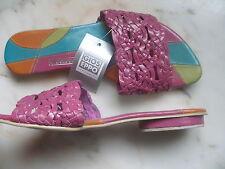 REBAJAS GIOS EPPO TALLA Nº 38 PRECIOSAS zapato sandalias en PIEL NATURAL ROSAS