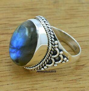 Labradorite Solid 925 Sterling Silver Ring Band Ring Handmade Ring Ring rtfg9685