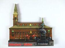Kopenhagen Rathaus 3 D Holz Souvenir Deluxe Magnet Dänemark  Neu