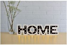 Home/love LED Cream Word Marquee Light Modern Wood Feature Home Decor Love