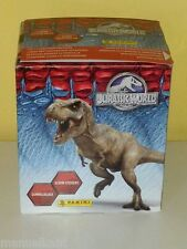 PANINI BOX JURASSIC WORLD ALBUM + 50 packets bustine tüten DISPLAY figurine