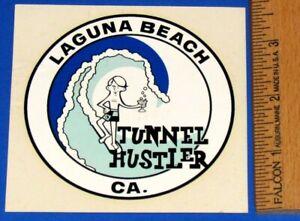 Vintage Original 1960's Laguna Beach Tunnel Hustler Water Slide Decal