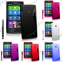 Housse etui coque pochette TPU silicone gel S-line Nokia X A110 Dual Sim RM-980