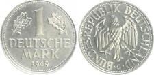 RFA 1 Marco alemán 1969G fehlprägung: wertseite Ligero dezentriert