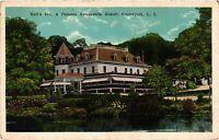 Vintage Postcard - Hall's Inn Automobile Resort Centerport Long Island NY #5075