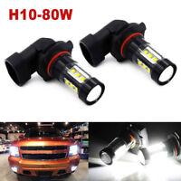 9140 9145 H10 LED Fog Light Bulbs for 03-06 GMC Sierra 1500 2500 HD 6000K Lamp