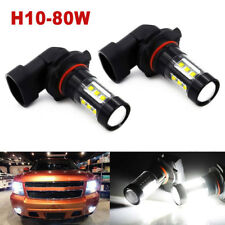 9140 9145 H10 LED Fog Light Bulbs for 03-06 GMC Sierra 1500 2500 HD 6000K Lamp