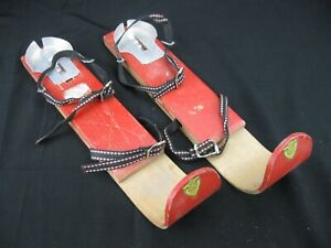 Vtg Early 20th Century Children's Snow Skis F.D. Peters Co. Great Décor!