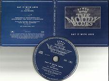 MOODY BLUES Say It With Love ULTRA RARE 1 TRK PROMO Radio DJ CD single CDP 453
