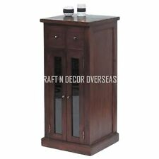 Comtempory CD Cabinets of Shesham Wood Size 45 X 90 X 45 Cms in Brown Colour