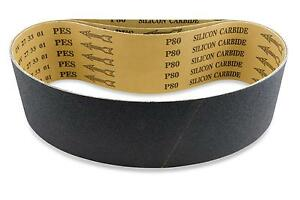 2 X 42 Inch 100 Grit Silicon Carbide Sanding Belts, 6 Pack