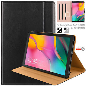 """Elegant Genuine Leather Case Smart Cover For Samsung Galaxy Tab A 10.1"""" SM-T515"""
