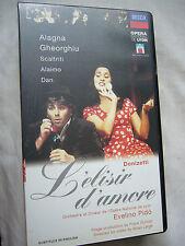 L'ELISIR D'AMORE DONIZETTI ROBERTO ALAGNA ANGELA GHEORGHIU PAL VHS