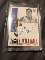 22/25 JASON WILLIAMS 2018-19 Encased Endorsements Red Autograph Auto Magic 25/25