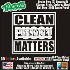 Clean P Matters Funny Diecut Vinyl Window Decal Sticker Car Truck Suv Jdm