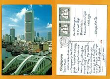 SINGAPORE VINTAGE POSTCARD STAMP SINGAPORE RIVER-HIGH-RISE BUILDING SINGAPORE
