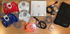 Awesome Sega Dreamcast Bundle - 4 Controllers - Memory Card - TESTED & WORKS
