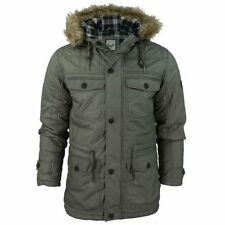 Button Cotton Waist Length Parkas for Men