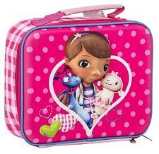 DOC MCSTUFFINS GIRLS KIDS SCHOOL NURSERY 3D INSULATED LUNCH SANDWICH BAG BOX NEW