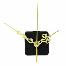 Quartz Clock Movement Mechanism Repair DIY Tool Kit + Gold Hands Gold Second