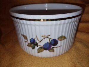"Royal Worcester ""Evesham Gold"" 6.75"" dia.Soufflé Dish - Shape 46, Size 4 - VGC"